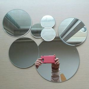 Seven-piece round/circle mirror set by Target Home